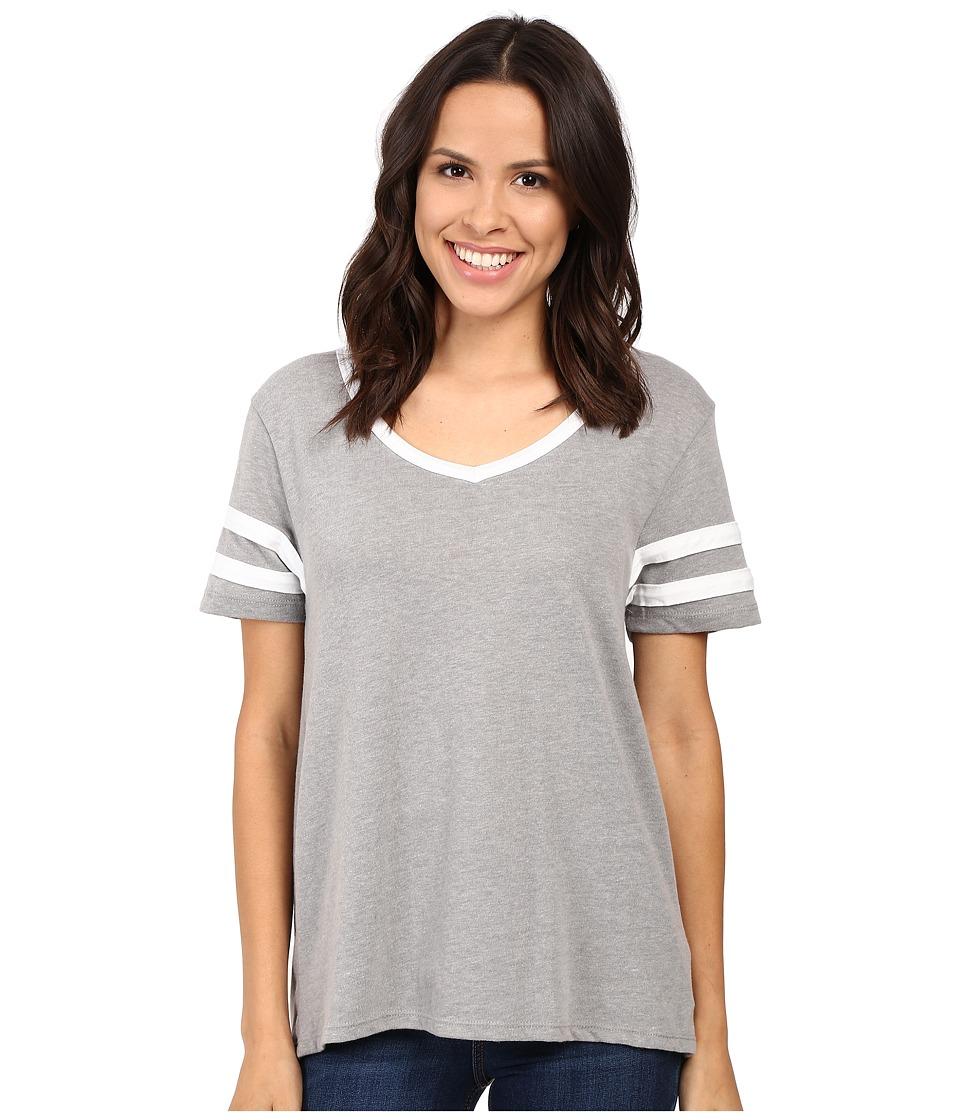 Alternative Varsity Vintage Jersey T-Shirt (Smoke/White) Women