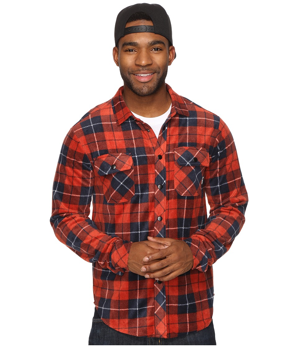 Billabong - Wind Chill (Red) Men's Long Sleeve Button Up