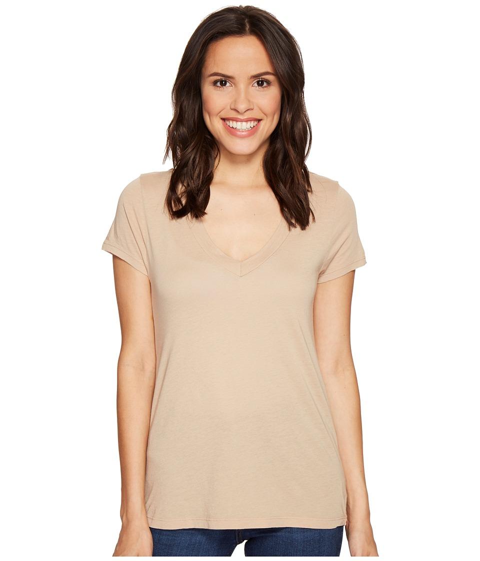LAmade - Short Sleeve Low V-Neck Boyfriend Tee (Gold Glass) Women's T Shirt