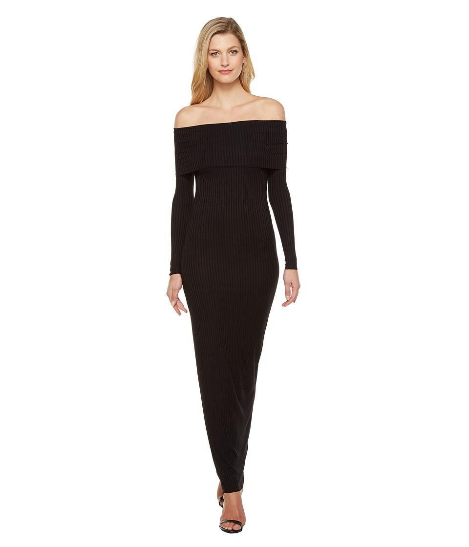 LAmade Nola Off Shoulder Maxi Dress (Black) Women