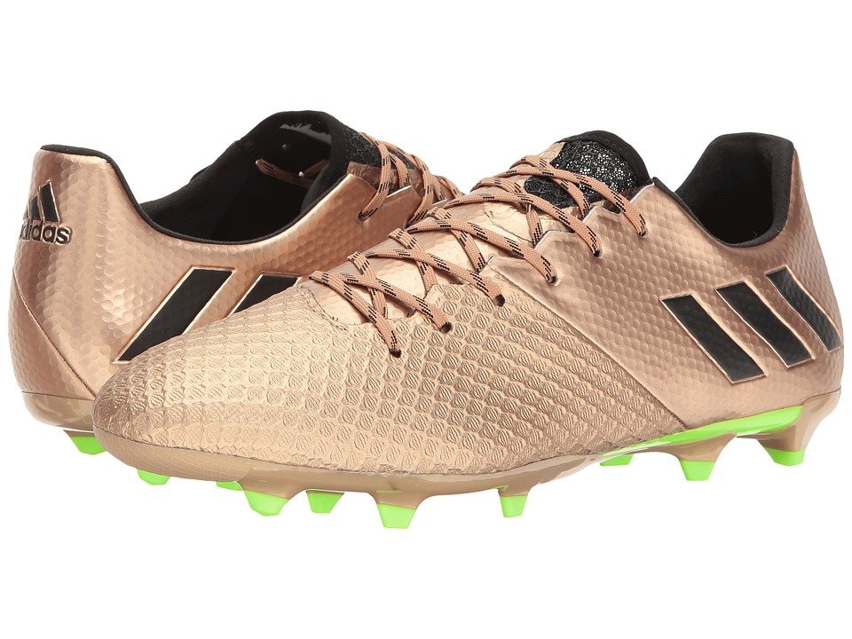 adidas - Messi 16.2 FG (Copper Metallic/Black/Solar Green) Men's Cleated Shoes