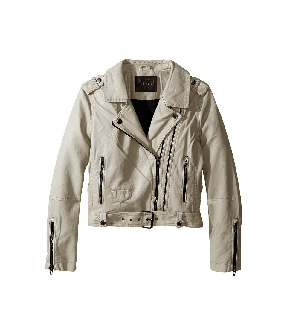 Blank NYC Kids - Vegan Leather Moto Jacket in Beige (Big Kids) (Beige) Girl's Coat