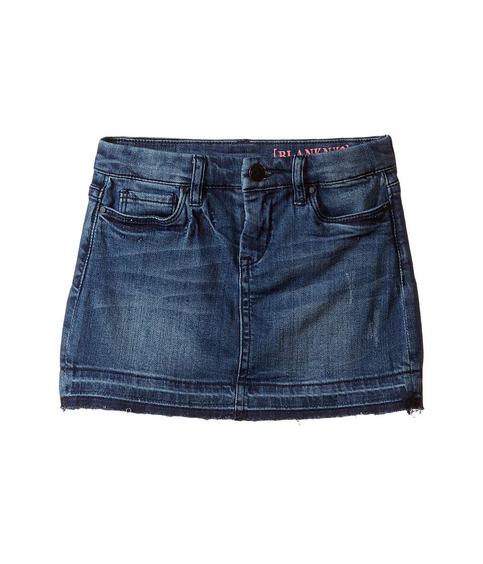Blank NYC Kids - Released Hem Denim Mini Skirt in Blue (Big Kids) (Blue) Girl's Skirt