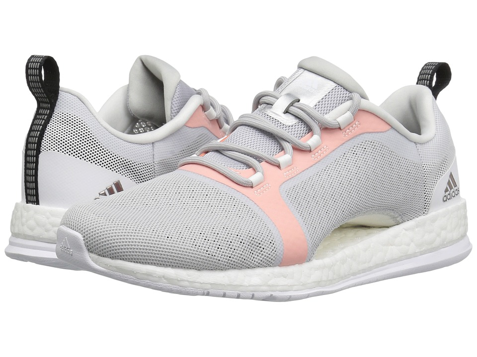 adidas - Pure Boost X TR 2 (Light Grey Heather Solid Grey/Core Black/Easy Orange) Women's Cross Training Shoes