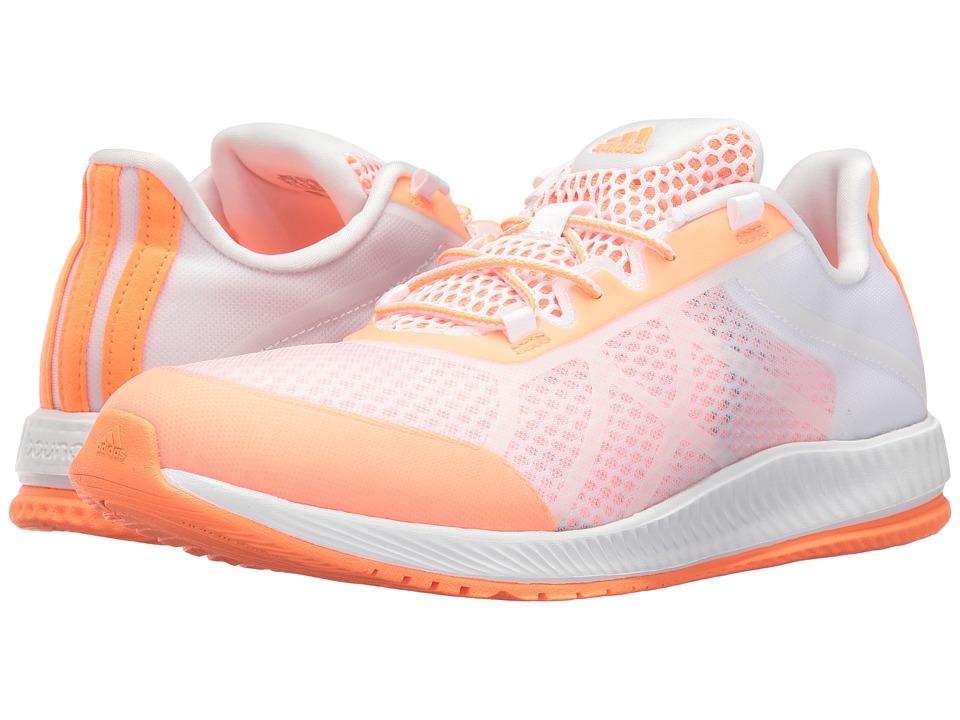 adidas - Gymbreaker Bounce (Footwear White/Easy Orange) Women's Cross Training Shoes