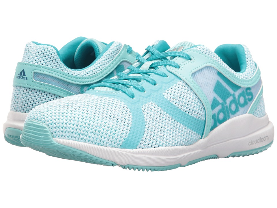 adidas - CrazyTrain CF (Footwear White/Clear Aqua/Energy Blue) Women's Cross Training Shoes