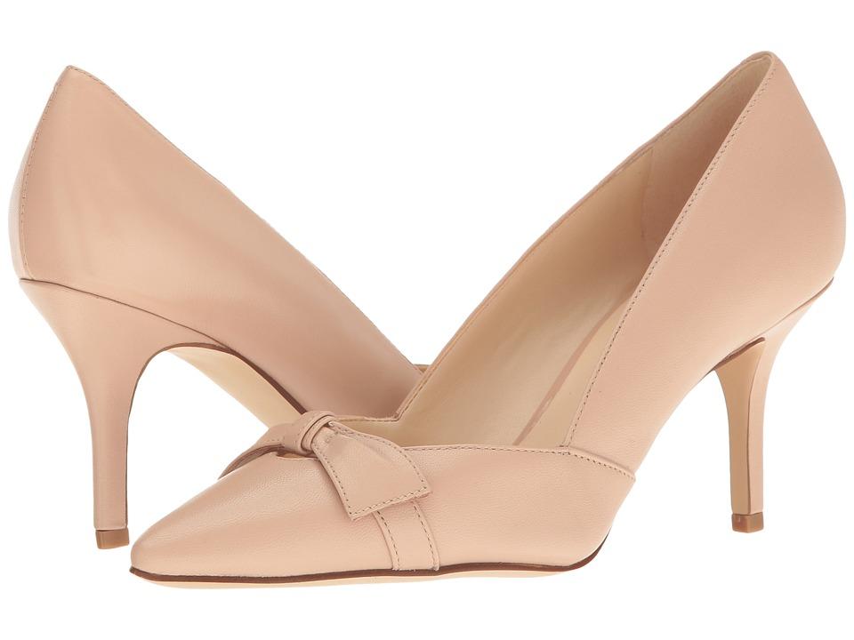 Nine West Kelda Light Pink Leather Womens Slip on  Shoes
