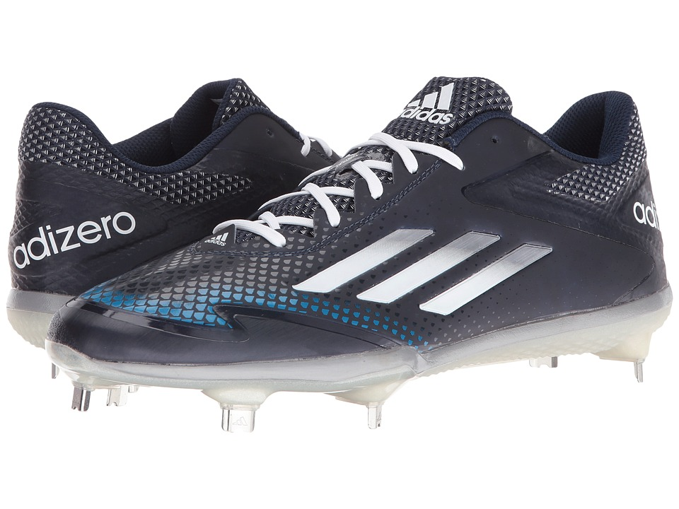 adidas - Adizero Afterburner 2.0 (Collegiate Navy/Tech Grey Metallic/White) Men's Shoes
