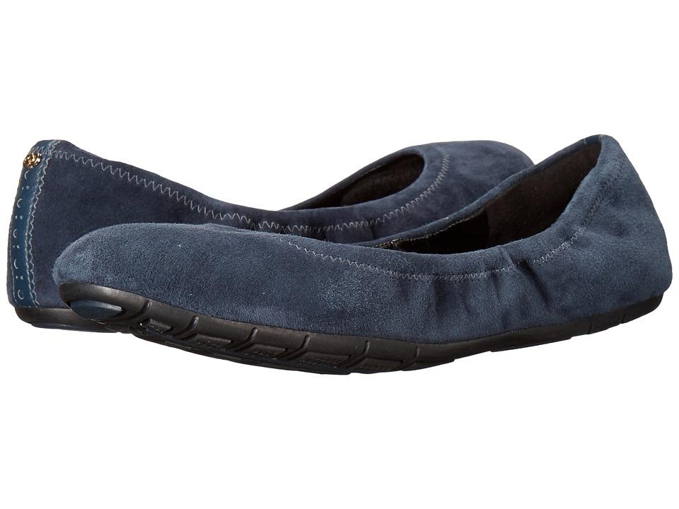 Cole Haan - Studio Grand Plain Ballet II (Dark Blue) Women's Shoes