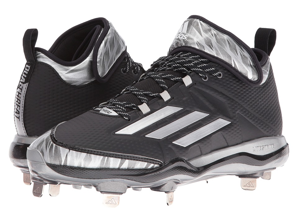 adidas Dual Threat Baseball (Black/Silver/White) Men