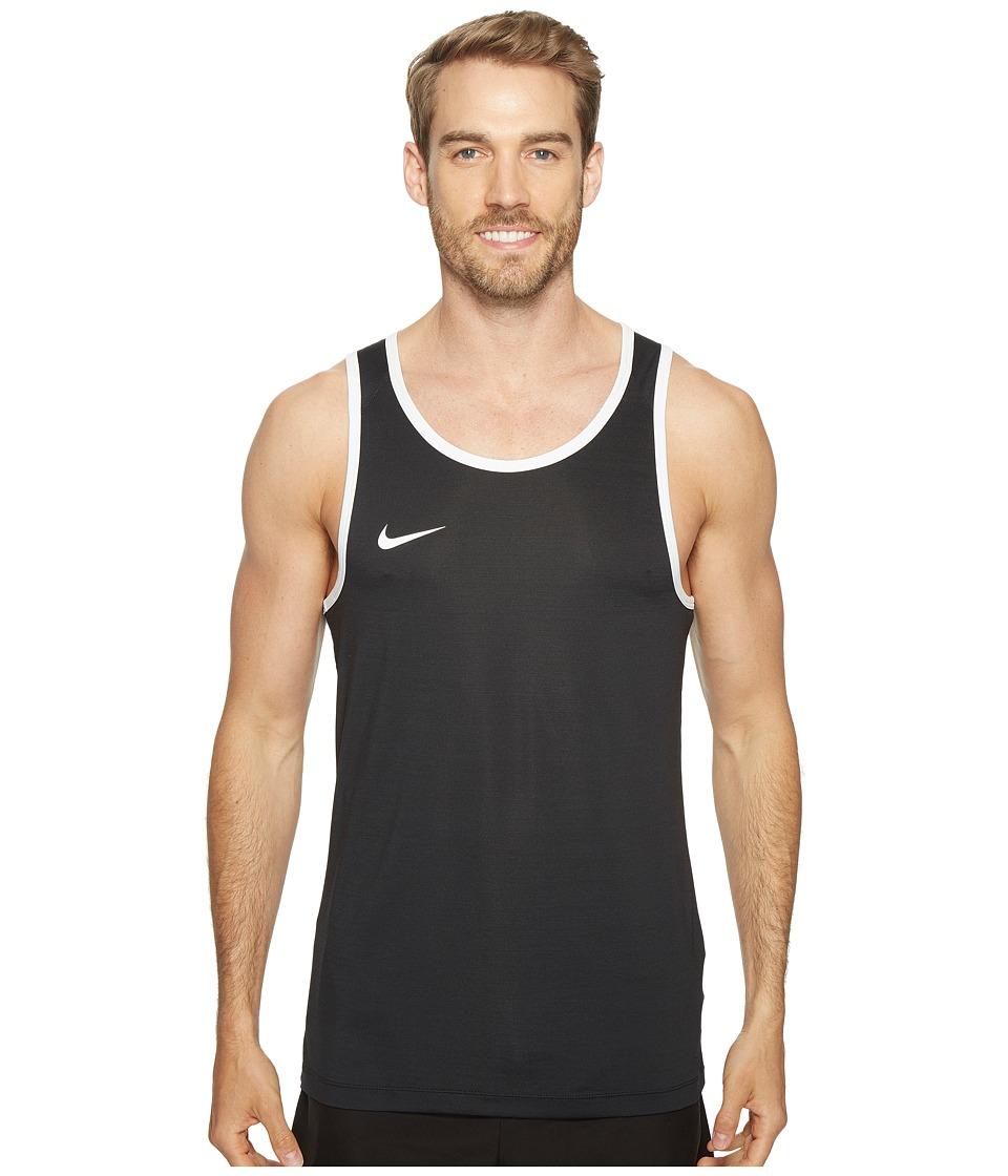 Nike - Dry Basketball Tank (Black/White) Men's Sleeveless