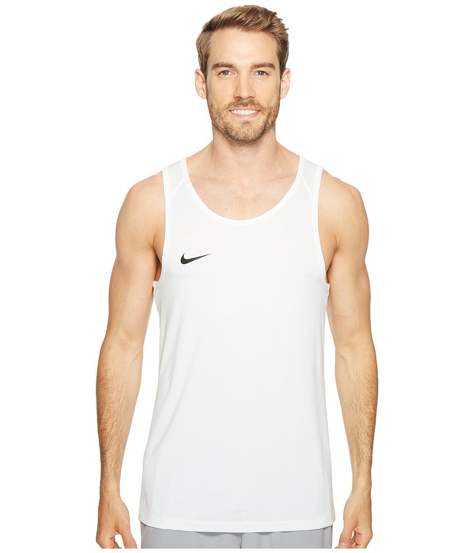 Nike - Dry Basketball Tank (White/Black) Men's Sleeveless