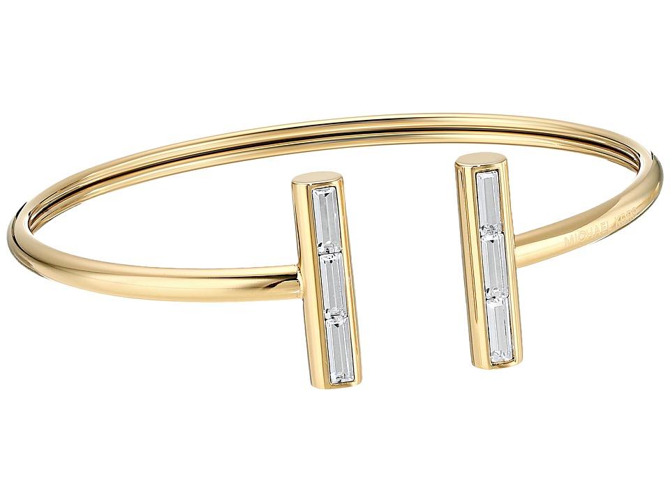 Michael Kors - Midnight Rose Gold and Crystal Flex Open Cuff Bracelet (Gold) Bracelet