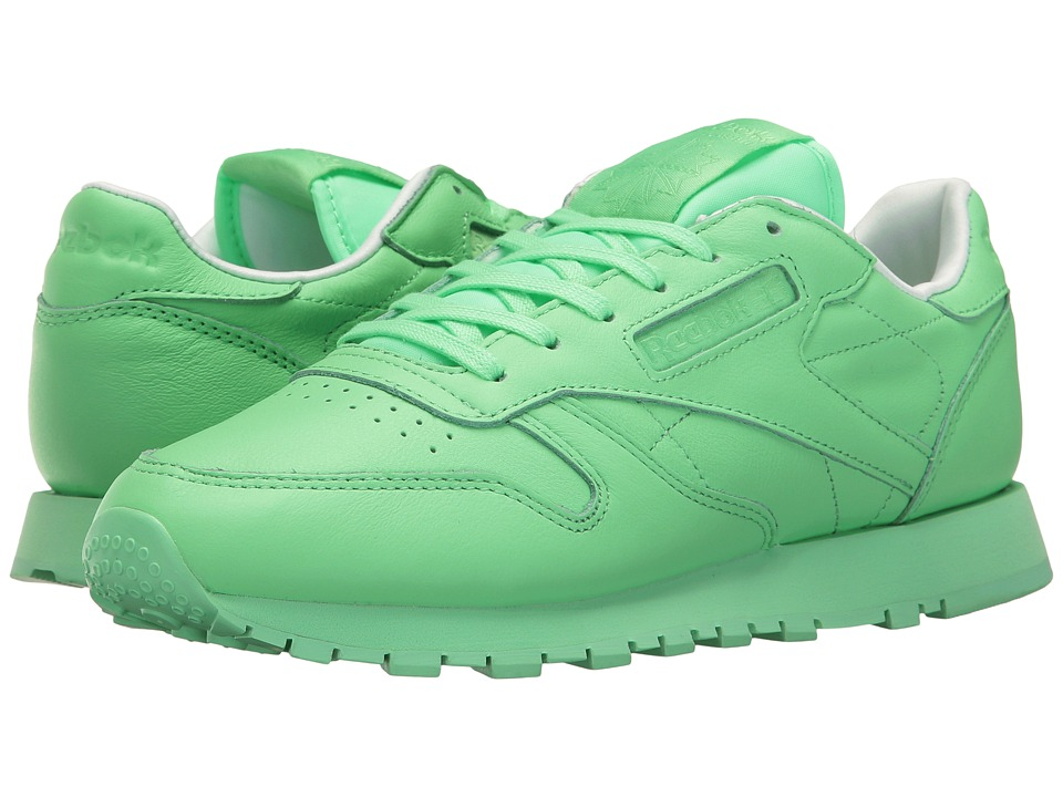 Reebok - Classic Leather Pastels (Mint Green/White) Women's Shoes