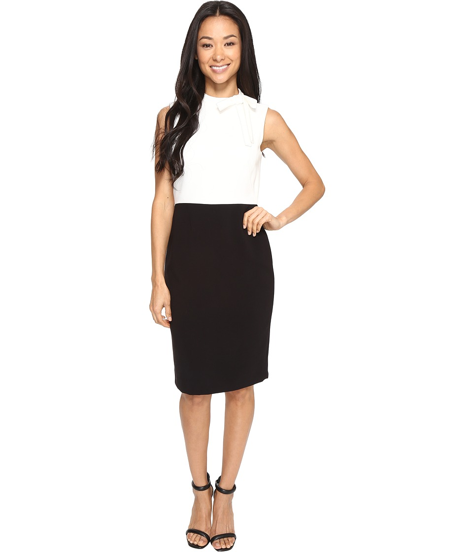 Tahari by ASL Petite - Petite Color Block Pencil Dress (Black/Ivory) Women's Dress