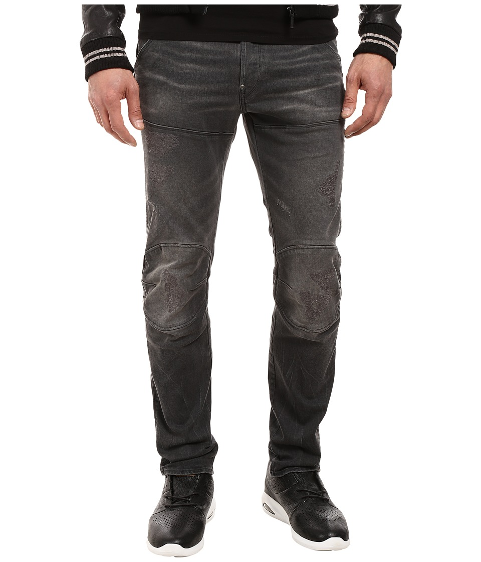 G-Star - 5620 3D Slim in Ding Grey Stretch Denim Medium Aged Restored 92 (Ding Grey Stretch Denim Medium Aged Restored 92) Men's Jeans