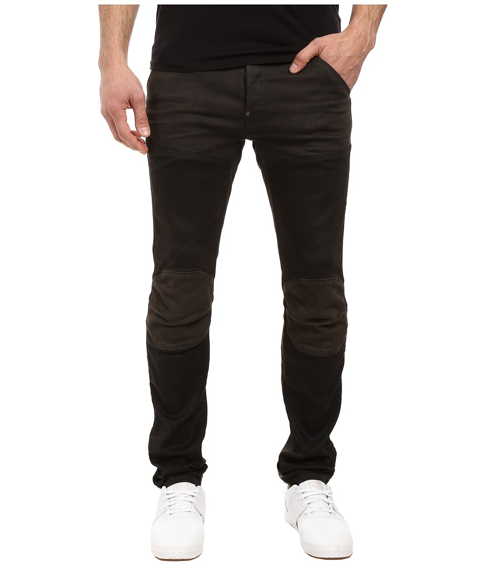 G-Star - 5620 3D Slim Pattern Mix in Slander Black Super Stretch Dark Aged (Slander Black Super Stretch Dark Aged) Men's Jeans