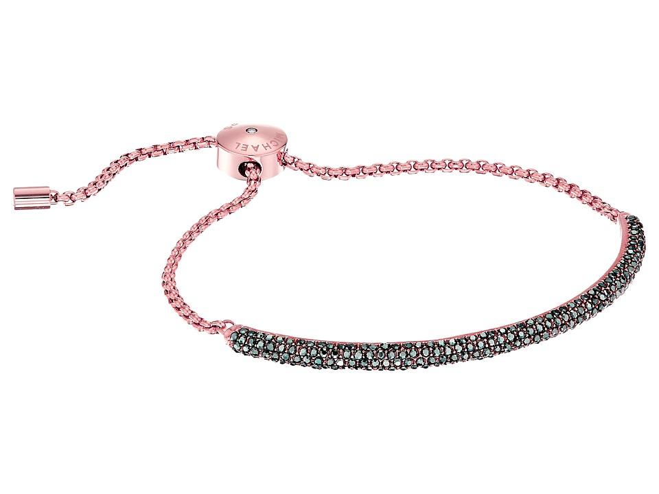 Michael Kors - Color Rush Hematite Pav Bombay Slider Bracelet (Rose Gold) Bracelet
