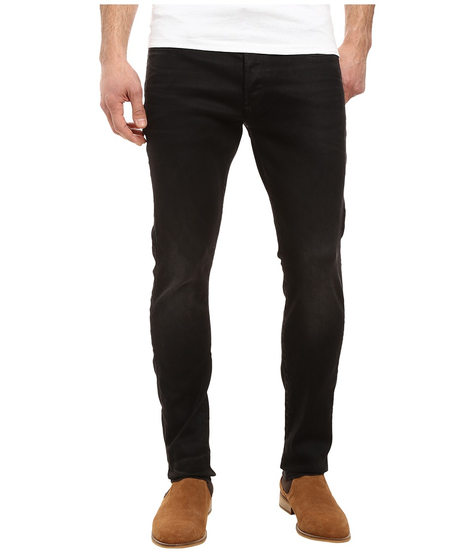 G-Star - 3301 Tapered in Slander Bionic Black Super Stretch 3D Aged (Slander Bionic Black Super Stretch 3D Aged) Men's Jeans