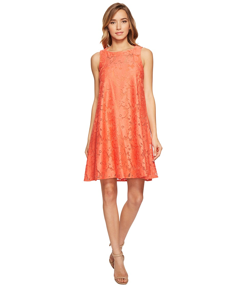 Donna Morgan - Sleeveless Tent Lace Dress (Tea Rose Red) Women's Dress