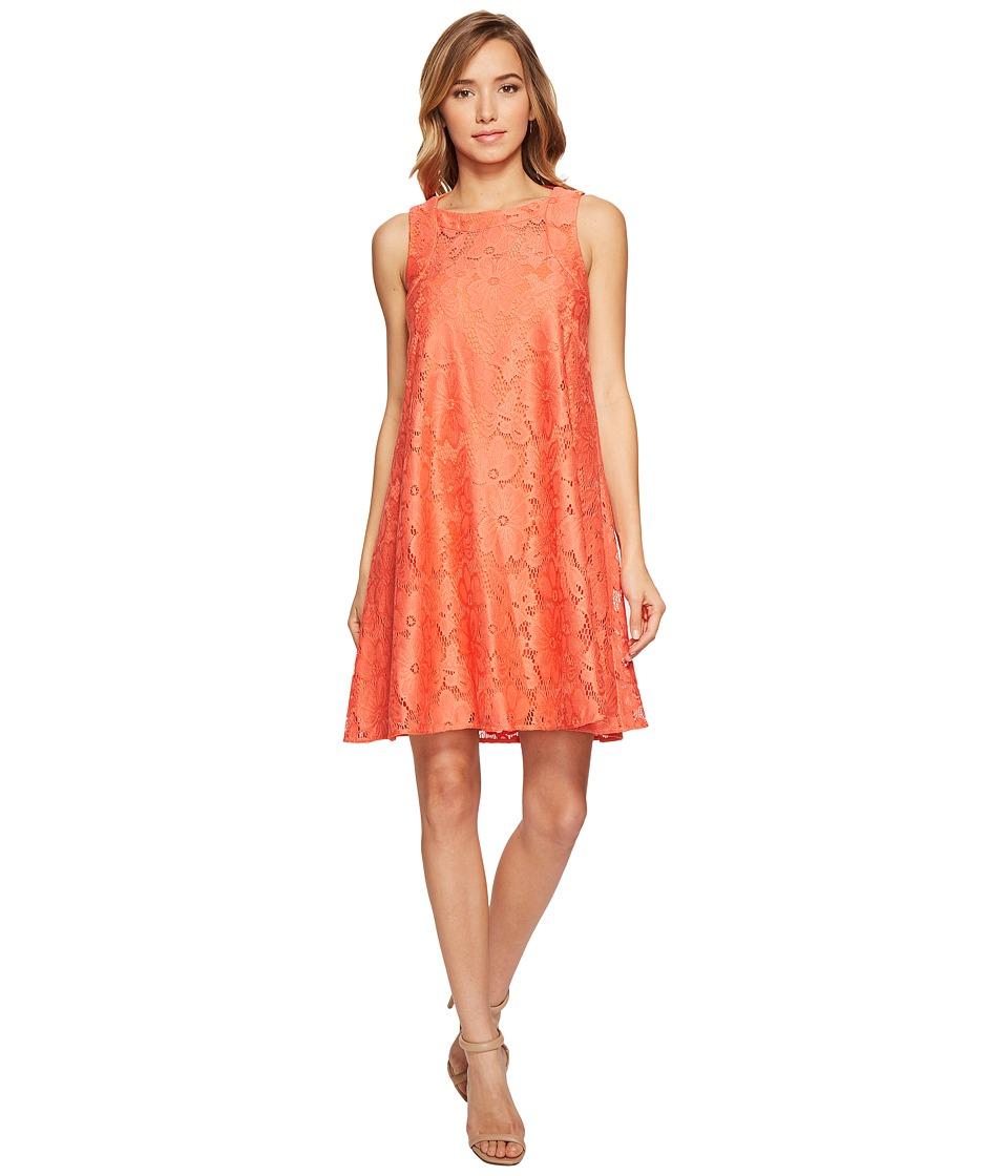 Donna Morgan - Sleeveless Tent Lace Dress (Tea Rose Red) Women's Dress