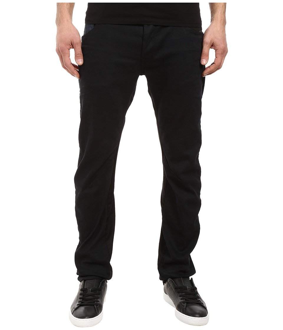 G-Star - Arc 3D Slim Pattern Mix in Elwah Super Stretch Dark Aged (Elwah Super Stretch Dark Aged) Men's Jeans