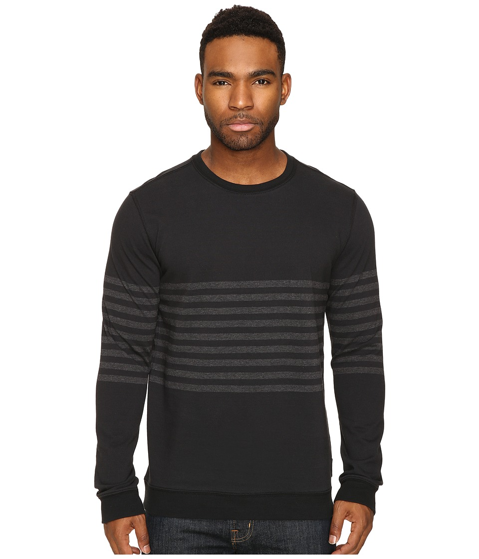 RVCA - New Sins Crew (Black) Men's Clothing