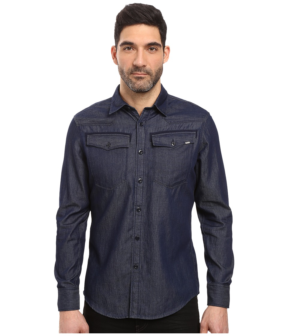 G-Star - 3301 Shirt Long Sleeve (Rinsed) Men's Clothing