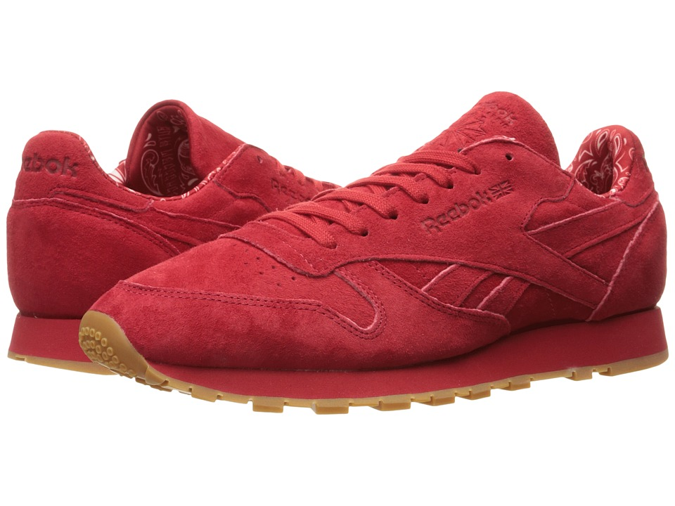 Reebok Lifestyle - Classic Leather TDC (Scarlet/White/Gum) Men's Shoes