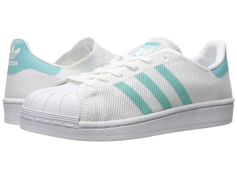 adidas Originals Superstar (Footwear White/Easy Mint S17/Footwear White) Women