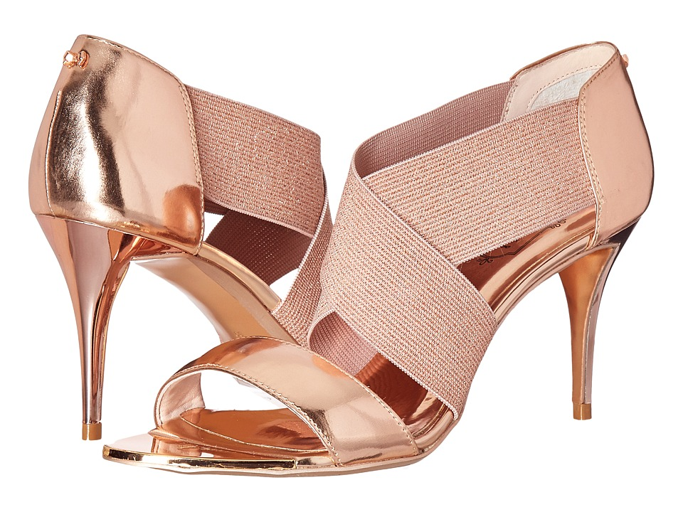 Ted Baker Leniya (Rose Gold Mirror Metallic Leather) Women