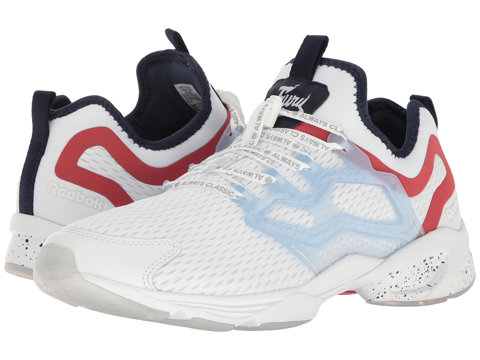 Reebok Lifestyle - Fury Adapt AC (White/Collegiate Navy/Primal Red) Men's Shoes