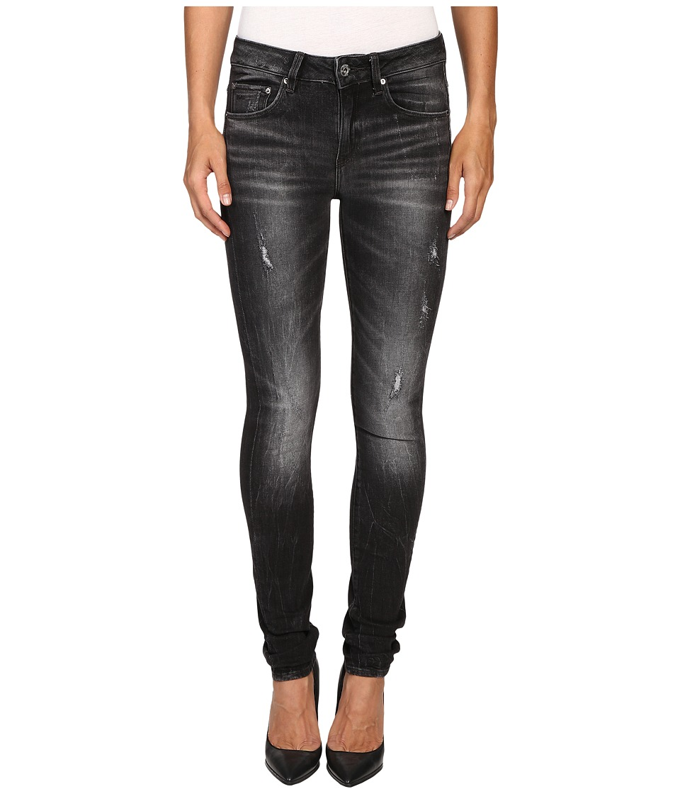 G-Star - 3301 High Skinny in Towi Black Stretch Denim Medium Aged Restored 97 (Towi Black Stretch Denim Medium Aged Restored 97) Women's Jeans