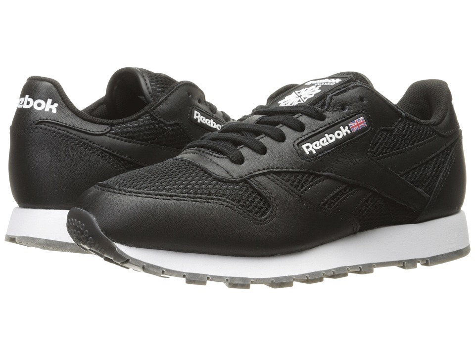 Reebok Lifestyle - Classic Leather NM (Black/White/Coal/Gum) Men's Shoes