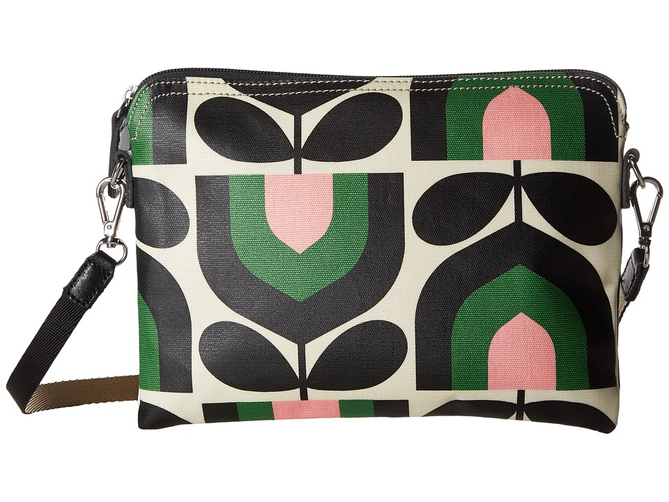 Orla Kiely - Matt Laminated Stripe Tulip Print Travel Pouch (Spring) Travel Pouch