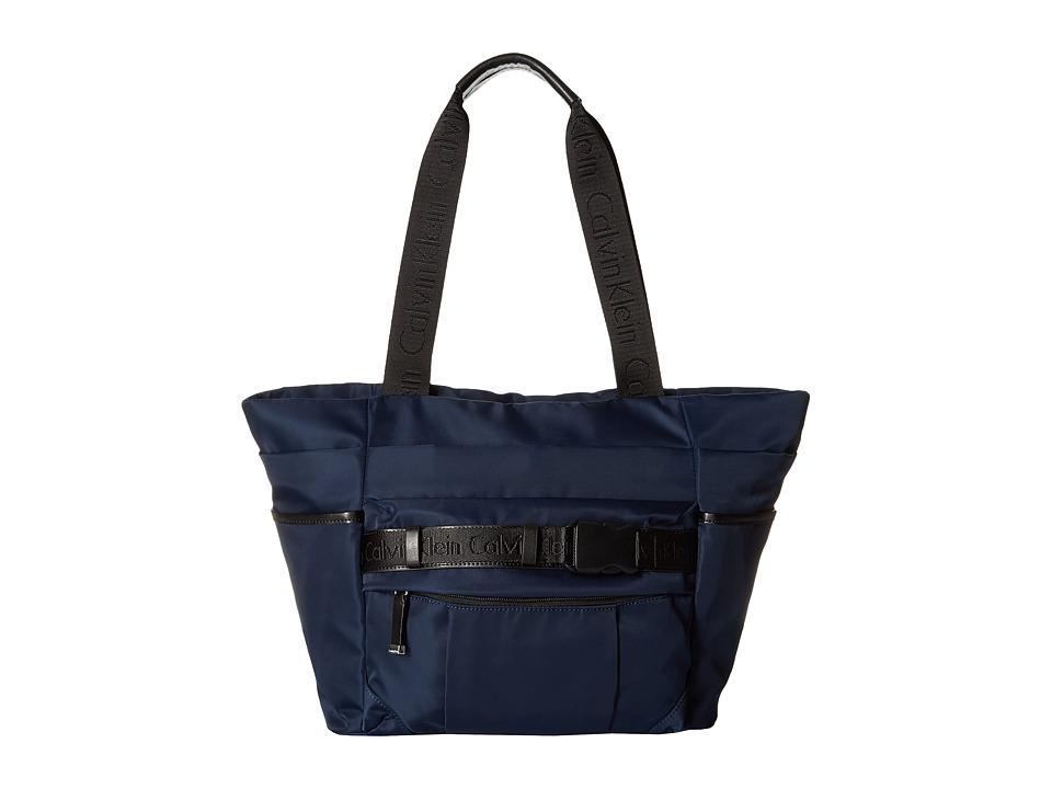Calvin Klein - Dressy Nylon Tote (Navy 2) Tote Handbags