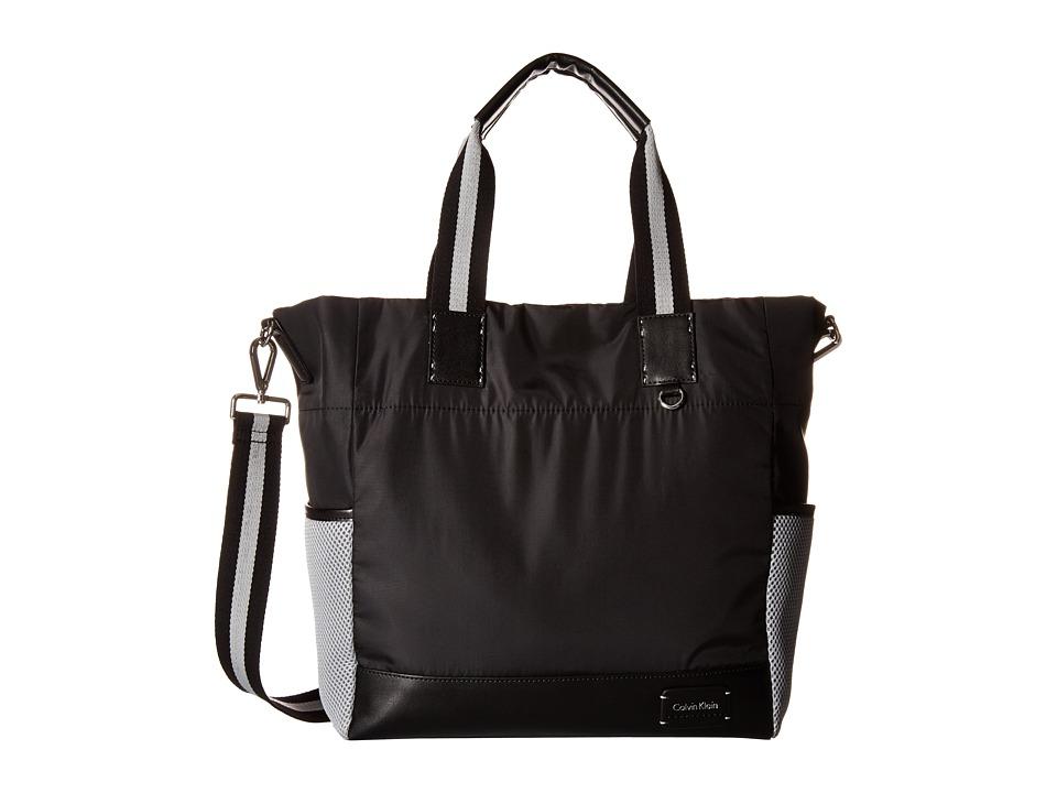 Calvin Klein - Ripstop Cire Tote (Black 2) Tote Handbags