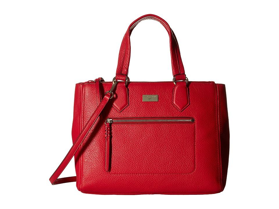 Cole Haan - Ellie Large Triple Entry Satchel (True Red) Satchel Handbags