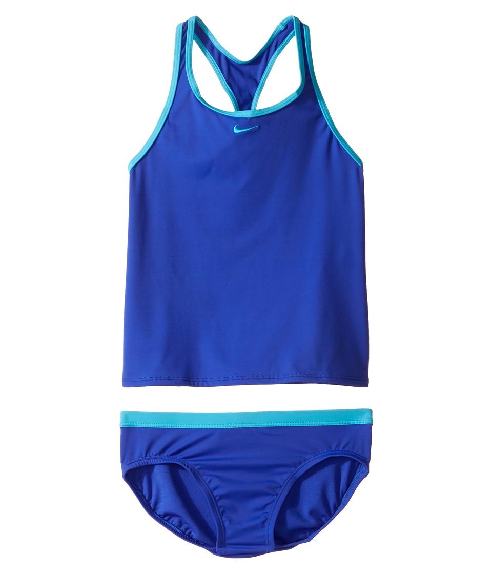 Nike Kids Core Solid Racerback Tankini (Big Kids) (Paramount Blue) Girl
