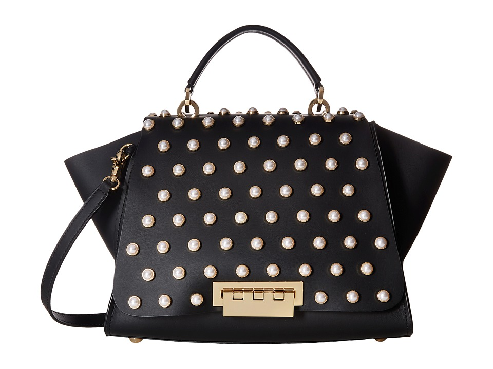 ZAC Zac Posen - Eartha Iconic Pearl Lady Soft Top Handle (Black) Top-handle Handbags