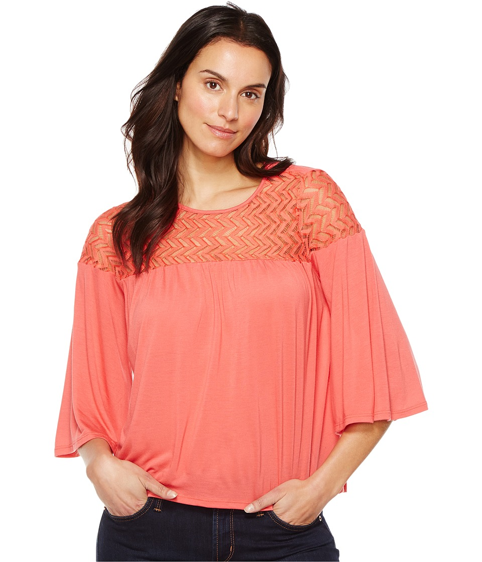 LAmade - Sonny Top (Coral) Women's Clothing