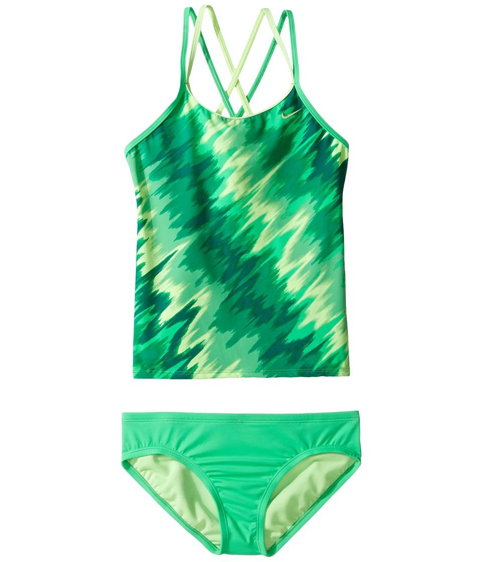 Nike Kids Splash Spiderback Tankini (Big Kids) (Electro Green) Girl