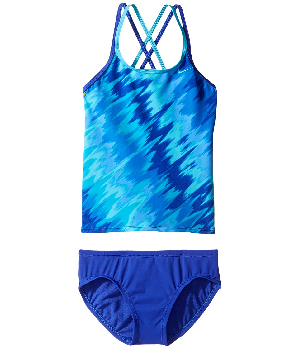 Nike Kids Splash Spiderback Tankini (Big Kids) (Paramount Blue) Girl