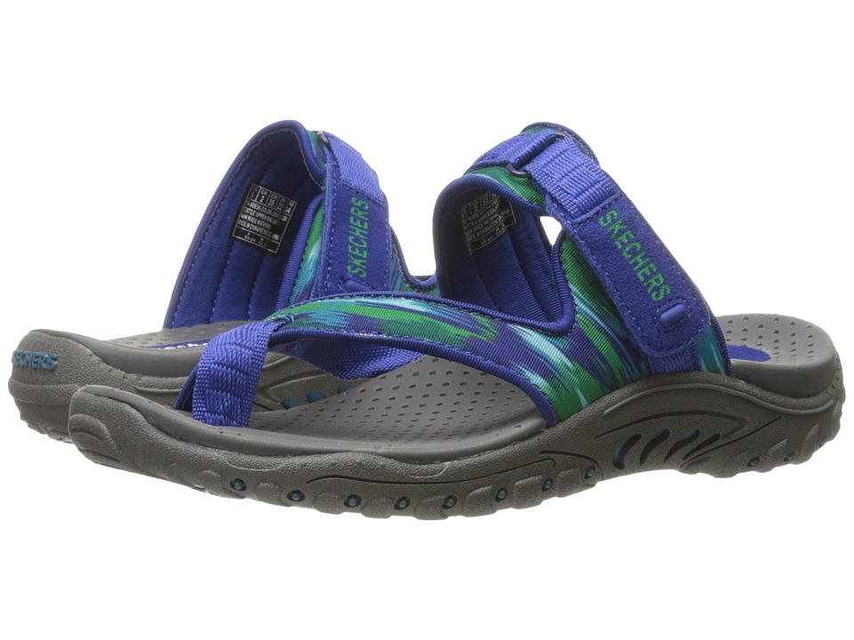 SKECHERS - Reggae - Brush Strokes (Blue/Green) Women's Shoes