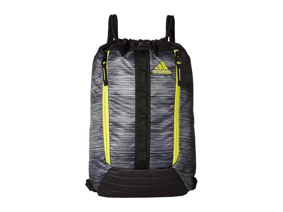 adidas - Skyline Sackpack (Low Stripe/Black/Shock Slime) Bags