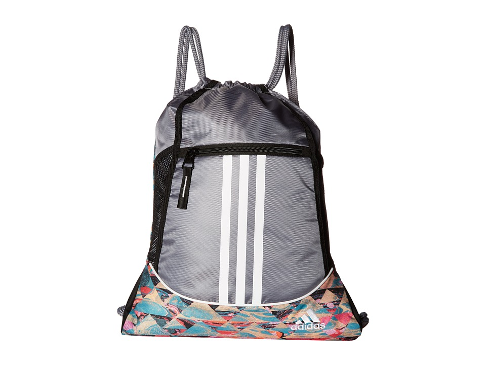 adidas - Alliance II Sackpack (Marble Print/Grey/White) Bags