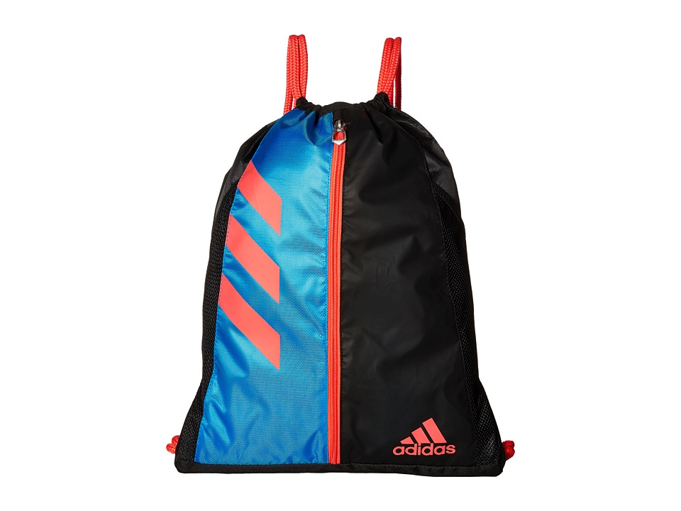 adidas - Team Issue Sackpack (Shock Blue/Black/Shock Red) Bags