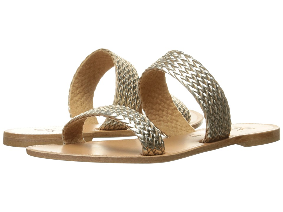 Joie - Sable (Platino Metallic Woven Trim) Women's Sandals