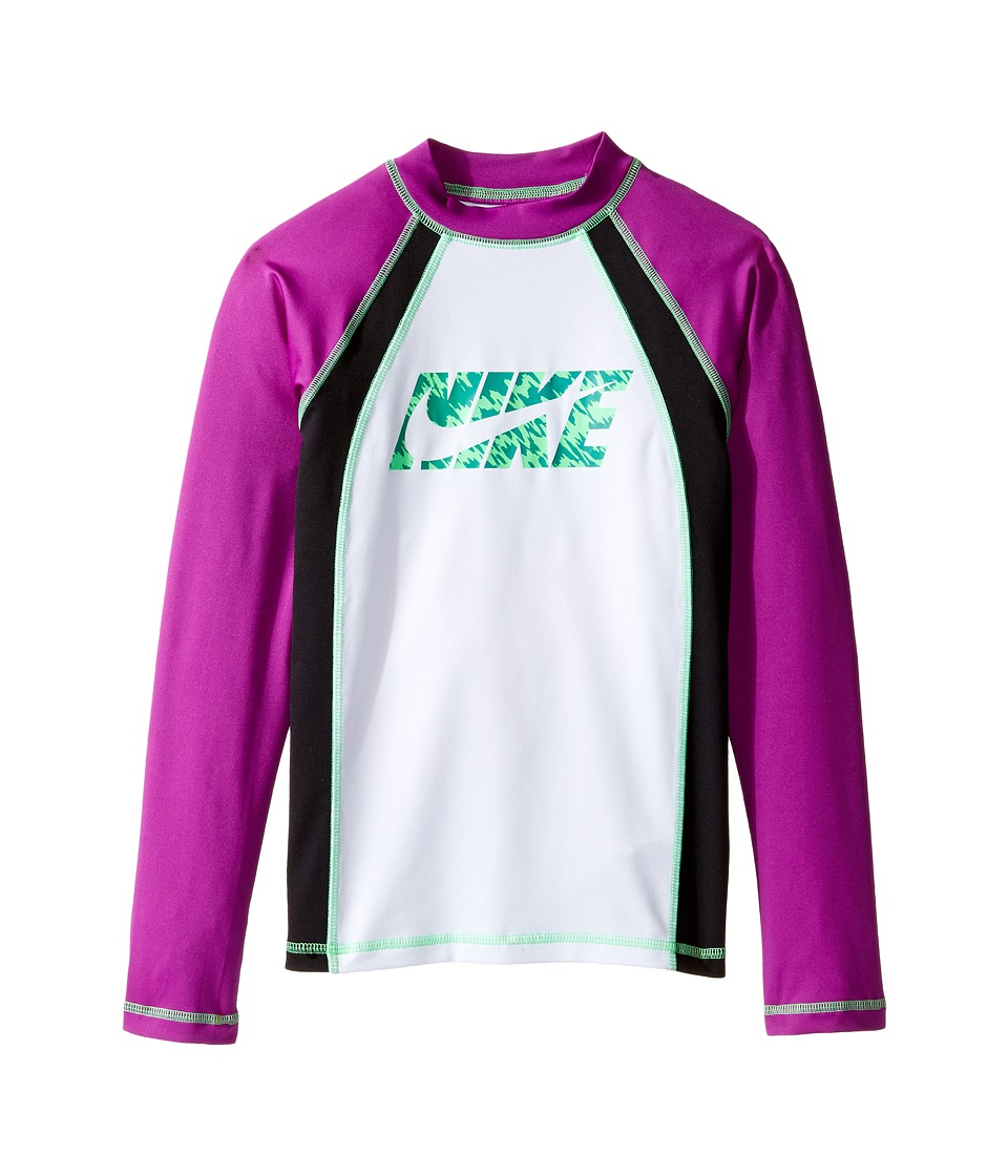 Nike Kids Splash Long Sleeve Hydro Top (Big Kids) (Vivid Purple) Girl