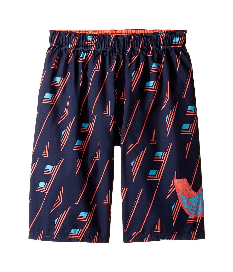 Nike Kids Vivid Swoosh 9 Volley Shorts (Big Kids) (Bright Crimson) Boy